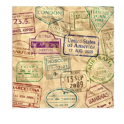 Beistle 2-Ply Around The World Luncheon Napkins - 12 Pack (16/Pkg)