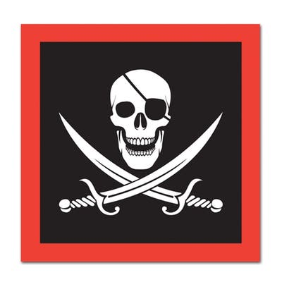 Beistle 2-Ply Pirate Theme Luncheon Napkins - 12 Pack (16/Pkg)