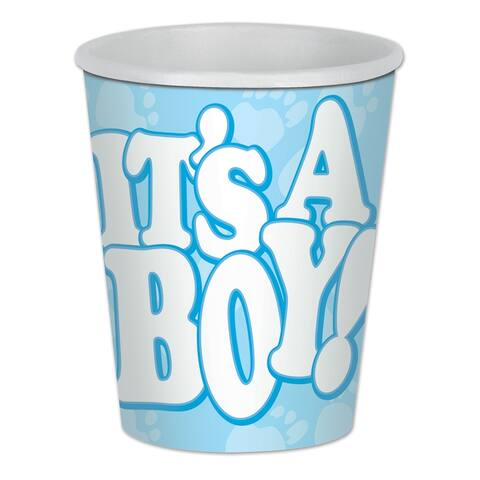 Beistle 9 Oz Baby Shower Party It's a Boy Beverage Cups - 12 Pack (8/Pkg)
