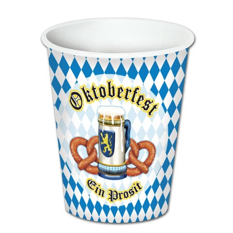 Beistle 9 Oz Oktoberfest Theme Party Beverage Cups -12 Pack (8/Pkg)