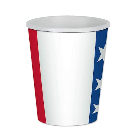 Beistle 9 Oz Patriotic Theme Party Beverage Cups - 12 Pack (8/Pkg)