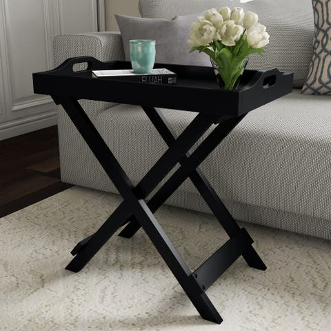 Carson Carrington Cullyhanna Wooden Contemporary Display Table - 22 x 12.5 x 23