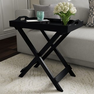 Carson Carrington Cullyhanna Wooden Contemporary Display Table - 22 x 12.5 x 23