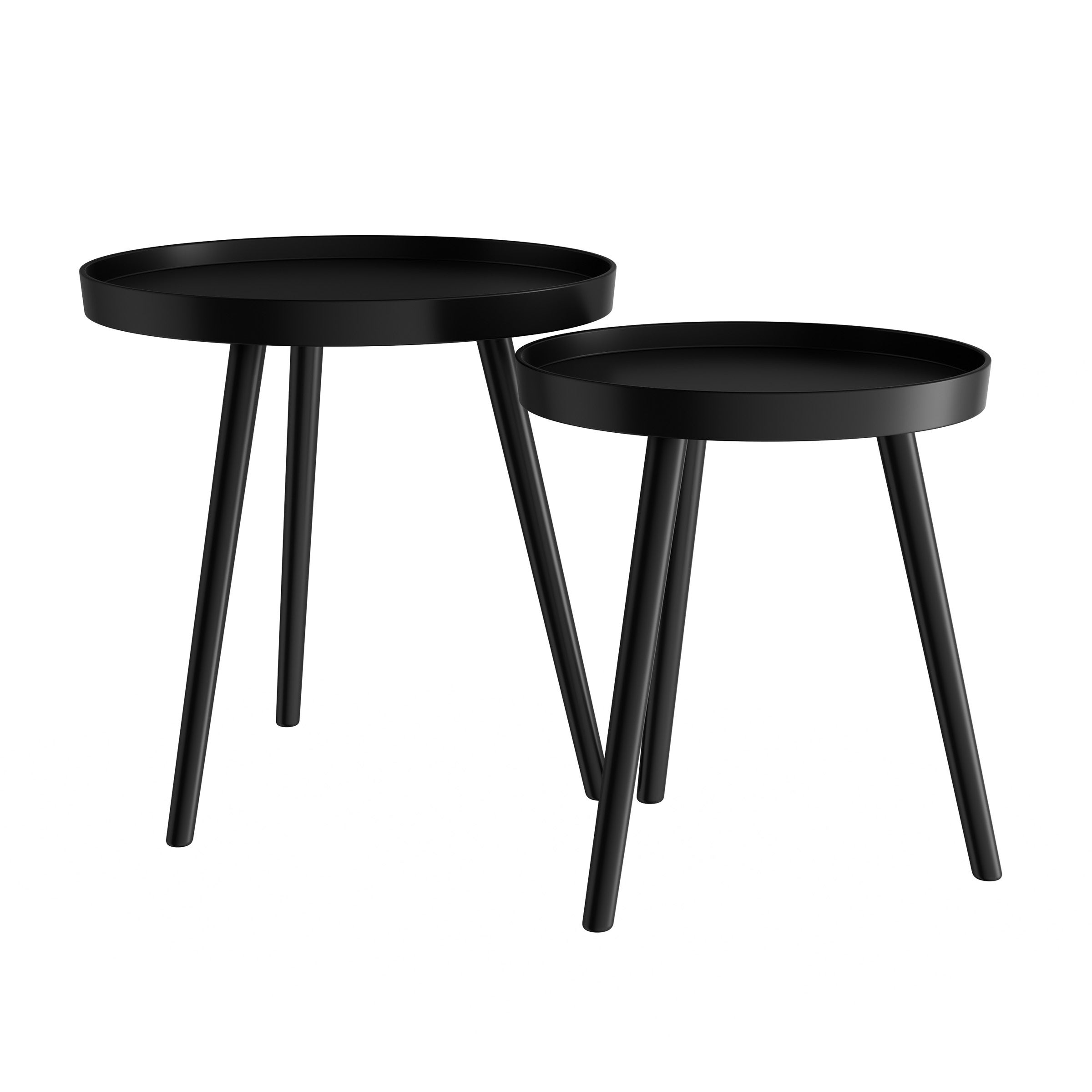 Shop Black Friday Deals On Carson Carrington Fagelsang Circular Mid Century Wood Nesting End Tables Overstock 26980609