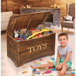 Solid Wood Rustic Toy Box