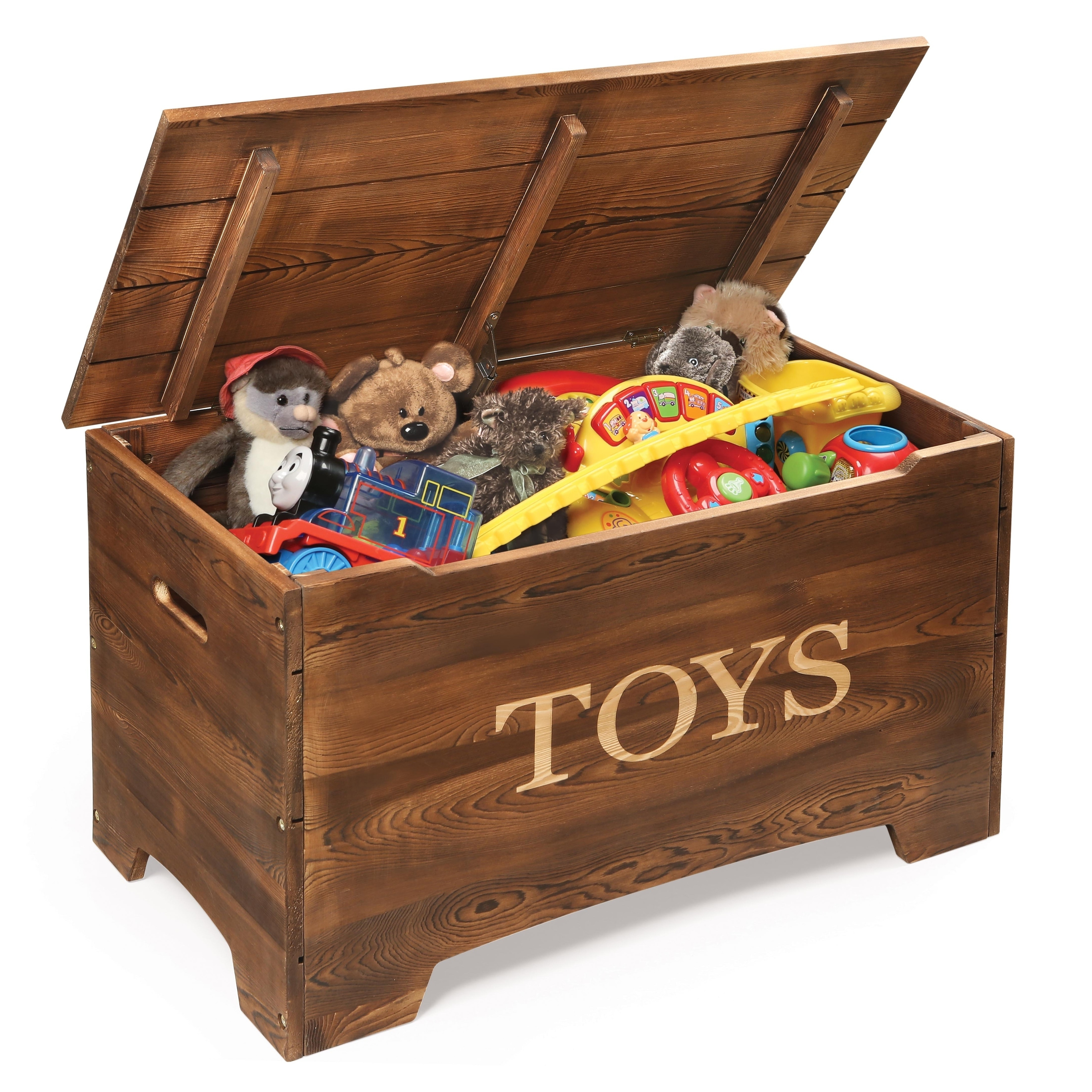 Solid Wood Rustic Toy Box Overstock 26980611