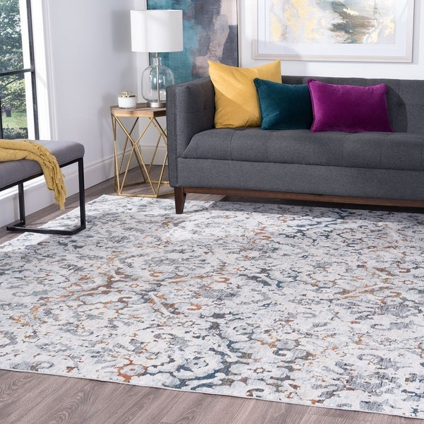 Alise Rugs Versailles Transitional Damask Area Rug
