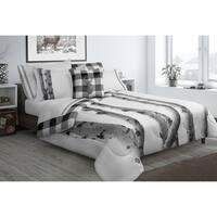 Comforter 3 Piece Set King Printed Birch