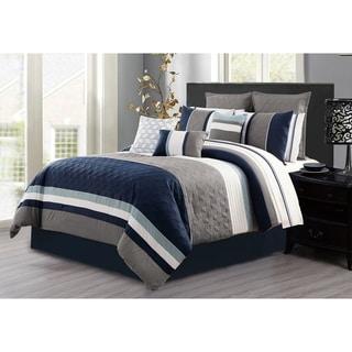 Shop Jezebel Grey Yellow Reversible 7 Piece Comforter Set