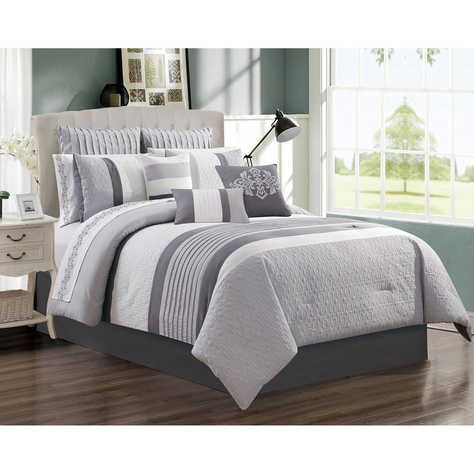 Shop Comforter Set 7 Piece Wov Queen Kane On Sale Overstock