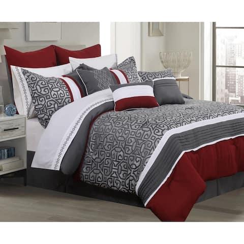 Comforter 7 Piece Set Sumatra King Charcoal