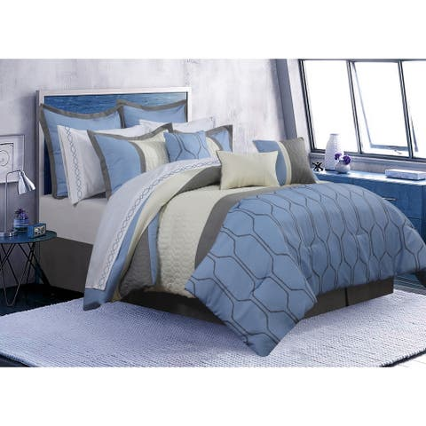 Comforter 7 Piece Set Cobalt Full Blue