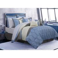 Comforter 7 Piece Set Cobalt Queen Blue