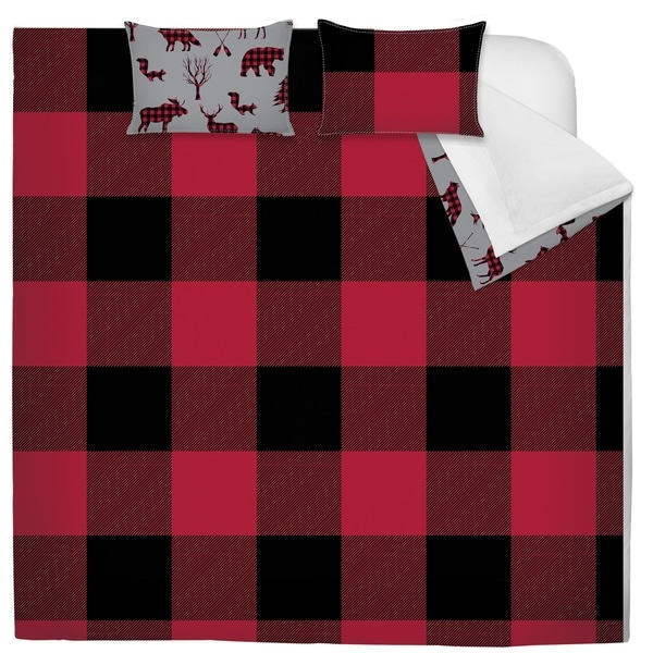 Comforter 2 Piece Set Twin Printed Buffalo Plaid