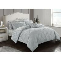 Comforter 7 Piece Set Lianna King Grey