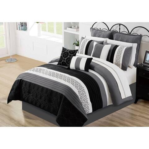Comforter Set 7 Piece Wov King Maddox