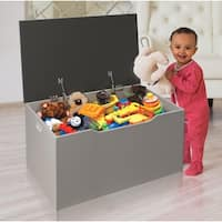 Taylor & Olive Lantana Woodgrain/ Grey Flat Bench Toy and Storage Box