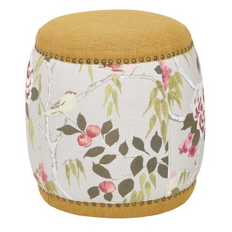 OSP Home Furnishings Briana Barrel Stool