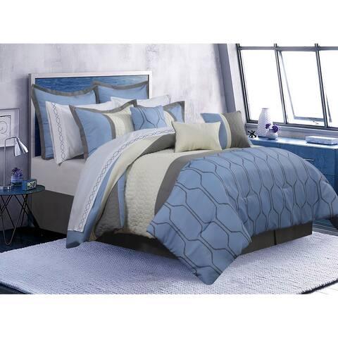 Comforter 7 Piece Set Cobalt King Blue
