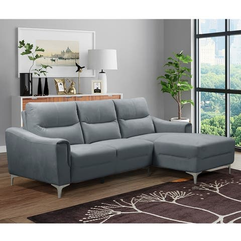 Kim Polyester Transitional Modern 2 Pc. Chaise Sectional