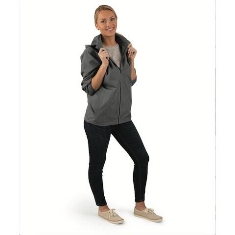Charles River Women's Full Zip Reflective Jacket, Wind/Rain Resistant.