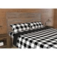 Quilt/Blanket 2 Piece Set Print. Twin White Buffalo Plaid