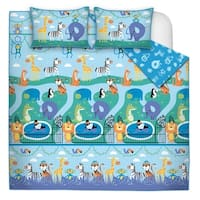 Quilt/Blanket 2 Piece Set Twin Zoo Land