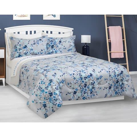 Comforter Set 3 Piece Full-Queen Floral