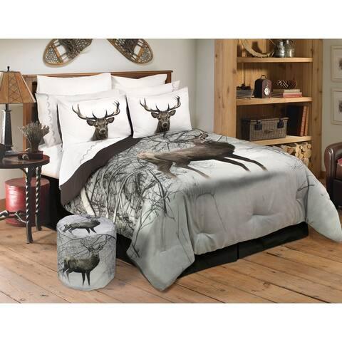 Comforter 3 Piece Set King Deer In Snowy Forest