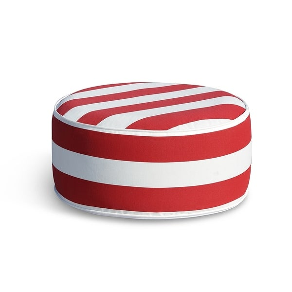 Shop Ove Decors Marlowe Red White Stripes Ottoman Free