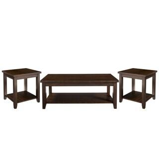 Standard Furniture Richmond 3-Pack Accent Tables, Dark Brown