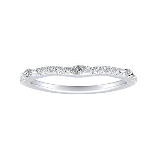 Auriya 1/6ctw Contoured Diamond Wedding Band Platinum