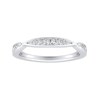 Auriya 1/5ctw Curved Diamond Wedding Band Platinum