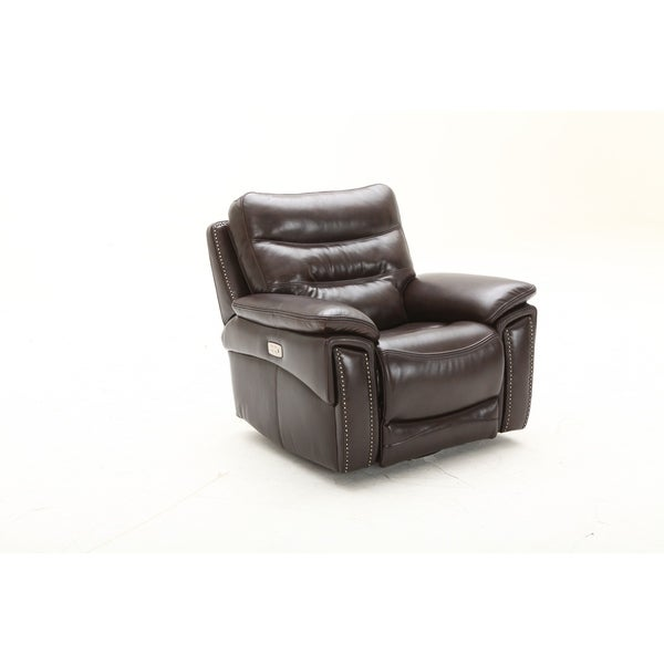 Copper Grove Maaseik Swivel Glider Power Headrest Recliner