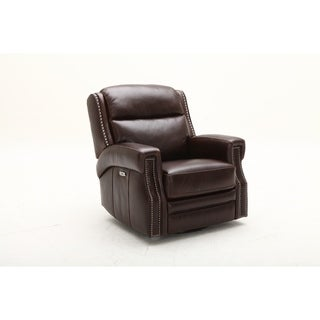 Copper Grove Cakovec Swivel Glider Power Headrest Recliner