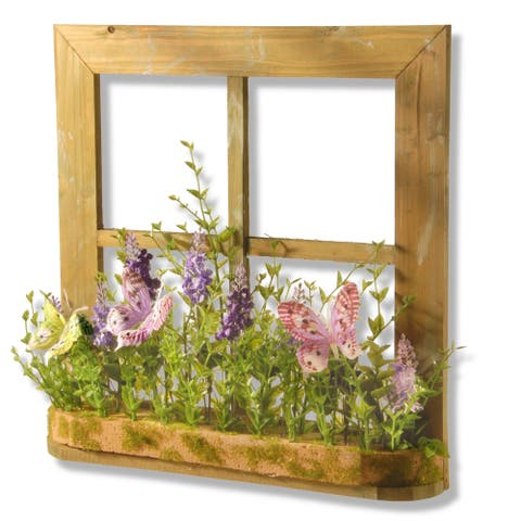"14"" Flowers and Butterflies Decorative Piece"