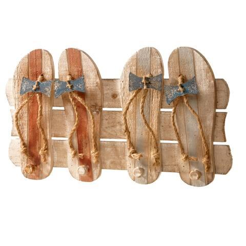 "19"" Wood Coat Rack Decoration"