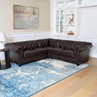 Porch & Den Murdock Tufted Chesterfield Sectional