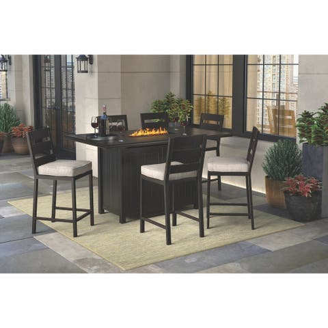 Perrymount Outdoor 7-piece Bar Table Set