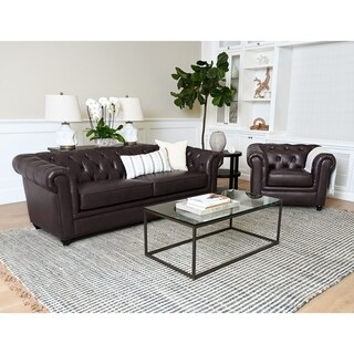 Copper Grove Berka Tufted Chesterfield Sofa and Armchair