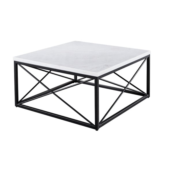 Overstock White Coffee Table.Shop Stella Modern White Marble Square Coffee Table By Greyson