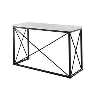 Carbon Loft Havinga Modern White Marble Sofa Table