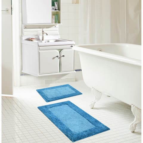 Natura 2-Piece Reversible Cotton Bath Mat Set - 20 x 32 in./17 x 24 in.