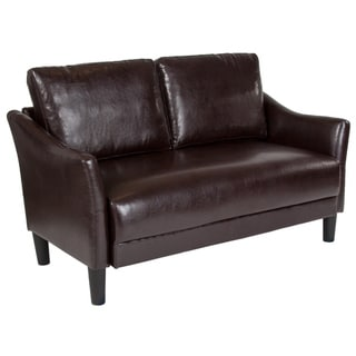 Upholstered Living Room Loveseat with Single Cushion Seat
