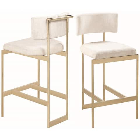 Chic Modern Design Brass Counter Height Dining Stool - 1-25inch Seat Height Counter Stool