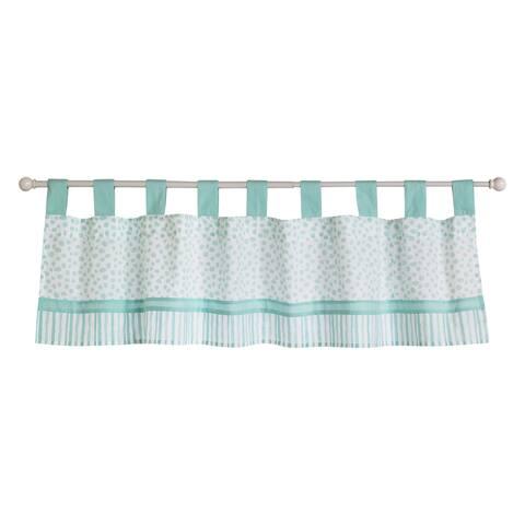 Trend Lab Taylor Aqua Blue Cotton Window Valance