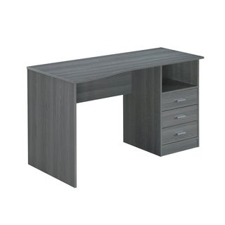 Modern Designs Classic 3-Drawer Computer Desk - Grey