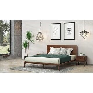 Link to Modrest Carmen Mid-Century Modern Walnut Bed Similar Items in Bedroom Furniture