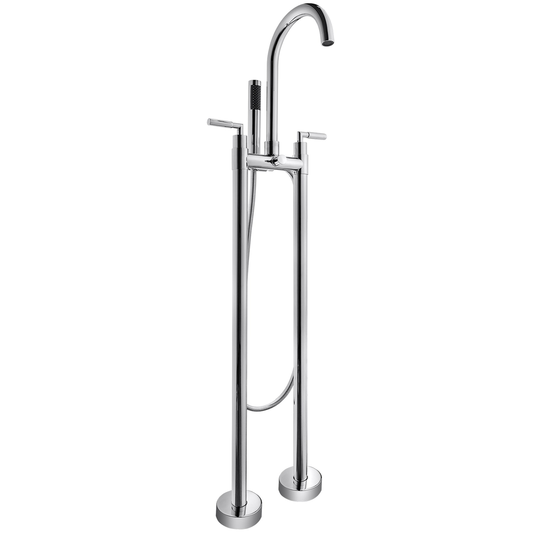 Shop Akdy 46 Floor Mounted Chrome Finish Bath Tub Filler Faucet