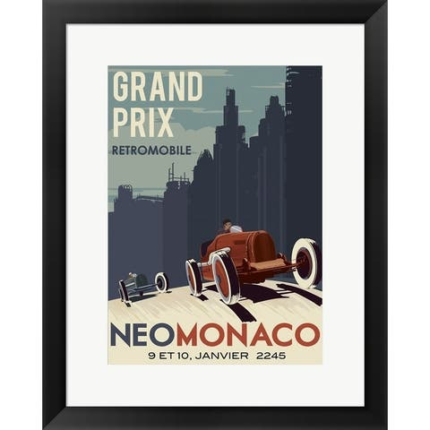Steve Thomas 'Vintage Car Race' Framed Art